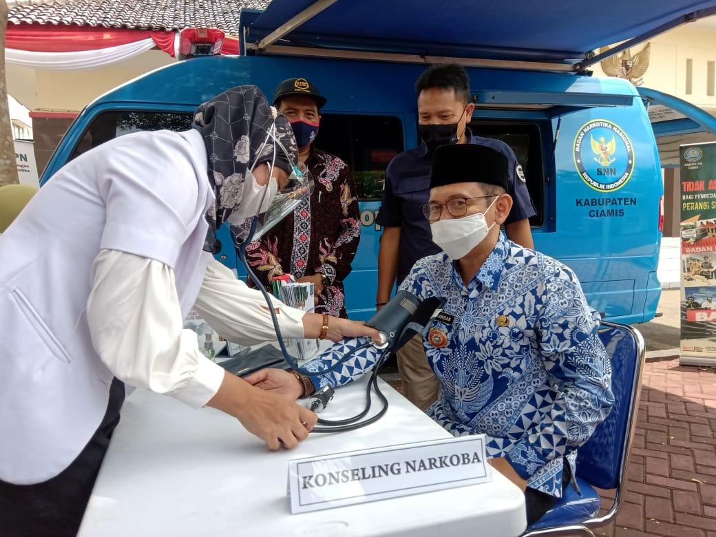 """BNNK Ciamis Launching """"Si Biru"""" Mobile Di Kabupaten Pangandaran"""