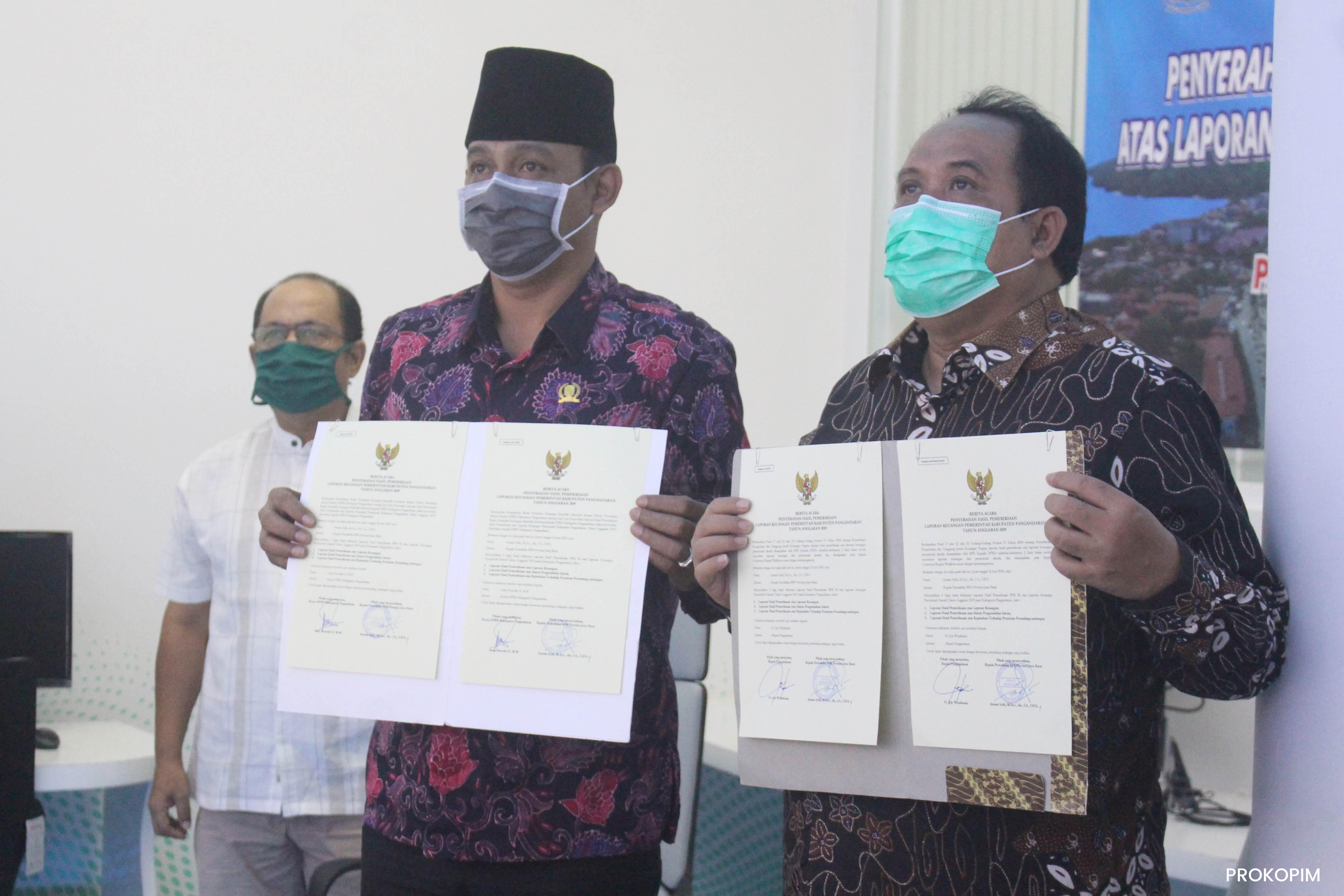 PEMKAB PANGANDARAN RAIH OPINI WTP ATAS LKPD TAHUN 2019