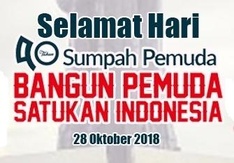 Selamat Hari Sumpah Pemuda 28 Oktober 2018