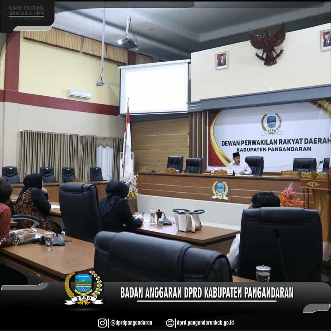 Rapat Kerja Badan Anggaran DPRD Kabupaten Pangandaran