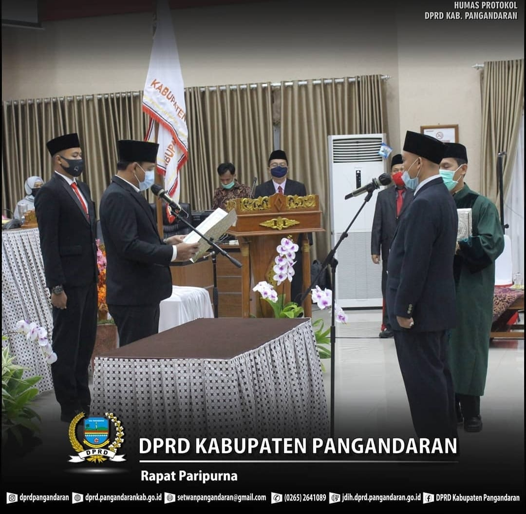 Ketua DPRD Pangandaran Resmi Lantik Yusep Rahmanudin, S.Ag. Gantikan H. Toto Suherman Heryana, s.Pd., M.M.