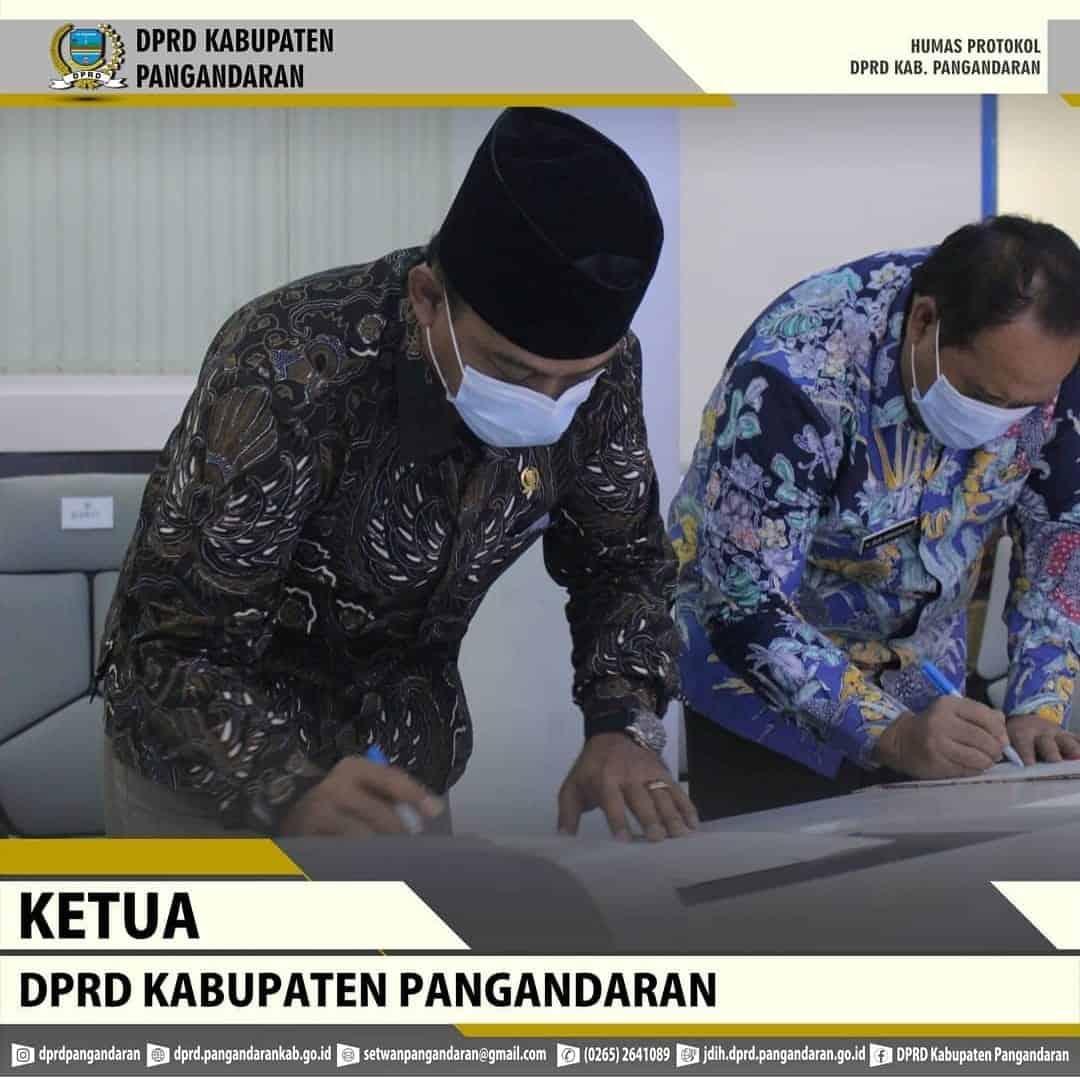 Ketua DPRD Kabupaten Pangandaran Hadiri Giat Penyerahan Laporan Hasil Pemeriksaan (LHP) Kepatuhan Atas Belanja Modal Tahun Anggaran 2020