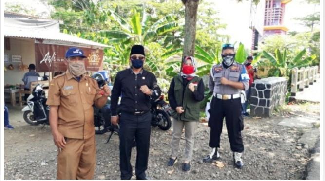 Dalam 2 Pekan DPRD Kabupaten Pangandaran Tinjau Langsung Penanggulangan COVID-19 Di Perbatasan