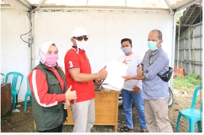 Ketua DPRD Pangandaran Berikan Bantuan APD kepada Petugas Medis di Puskesmas Perbatasan