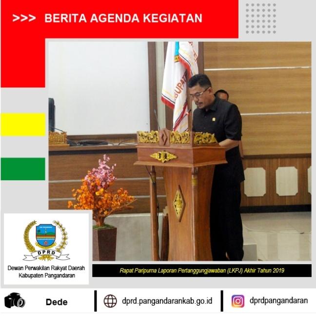 Rapat Paripurna LKPJ Akhir Tahun Anggaran 2019