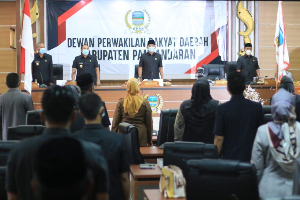 Rapat Paripurna RPJMD Kabupaten Pangandaran Tahun 2021-2026.