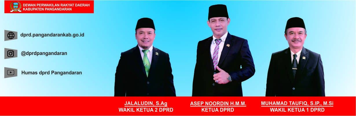 PIMPINAN DPRD KABUPATEN PANGANDARAN PERIODE 2019 - 2024