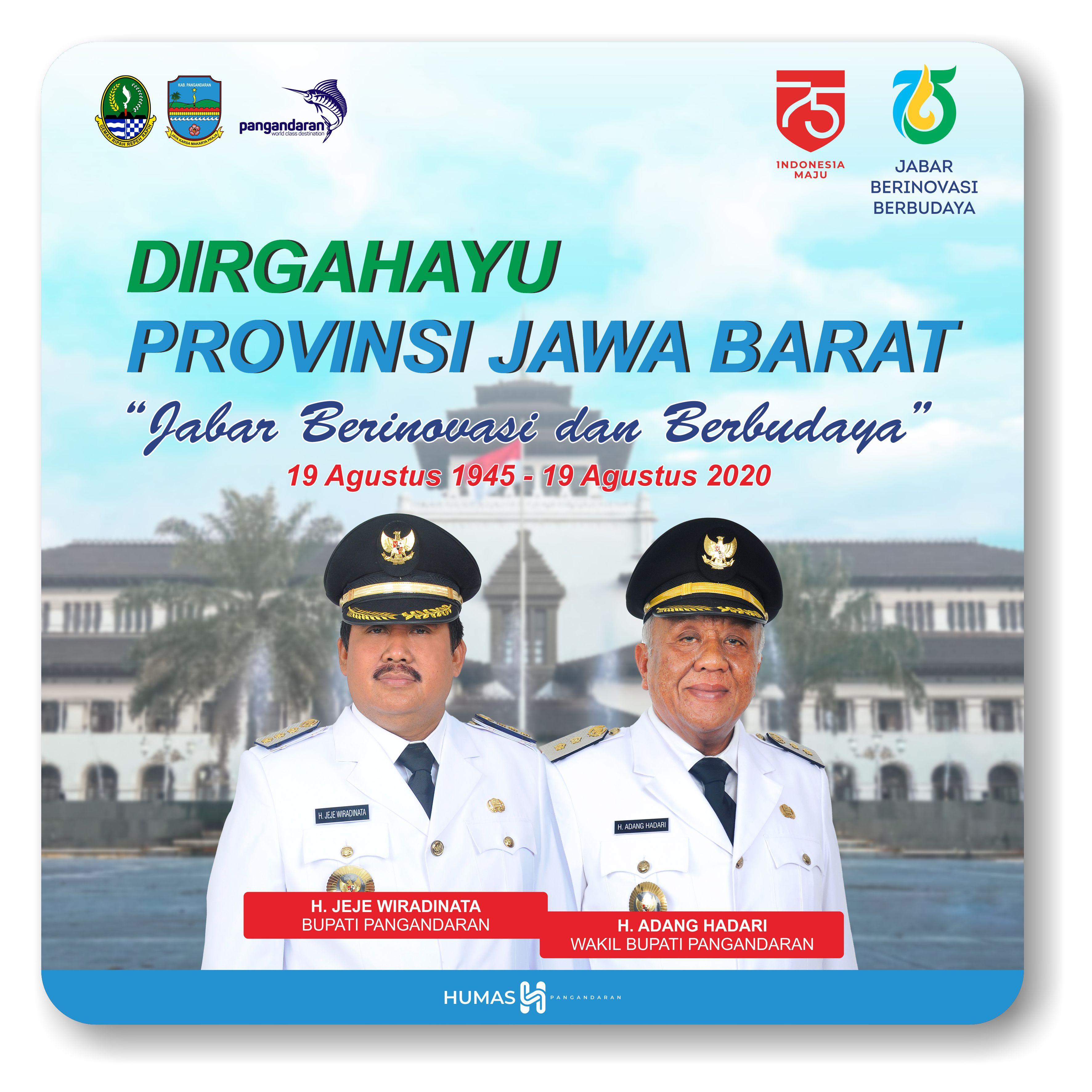 Dirgahayu Provinsi Jawa Barat Ke-75