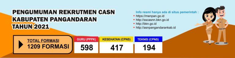 Pengumuman Seleksi Pegawai ASN Kabupaten Pangandaran Tahun 2021